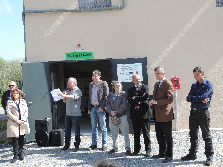 Inauguration de la chaufferie bois de Saint Plantaire